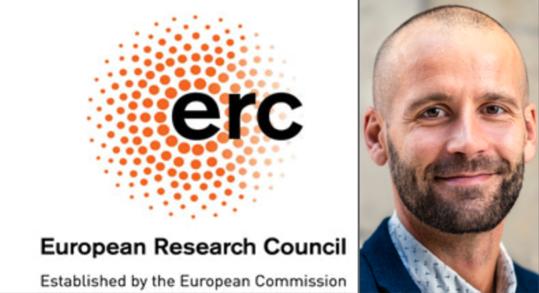 Kasper Rand and logo of the ERC